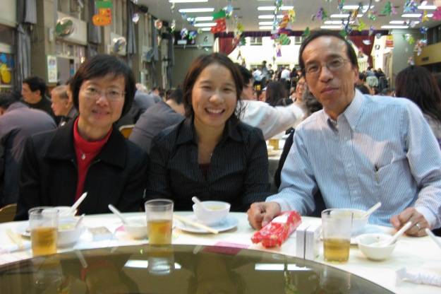 christmas eve dinner with goo jie and fam at church