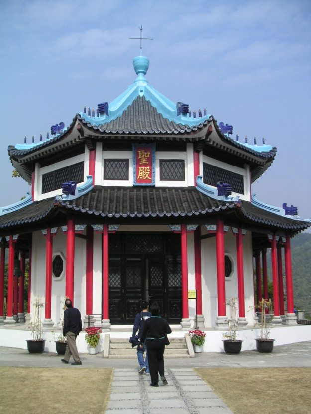 Christian chapel in traditional Chinese architecture